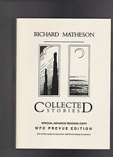 RICHARD MATHESON COLLECTED STORIES ADVANCED READING COPY SIGNED.UNREAD COPY NICE