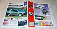 1990'S IMP HOT HAULERS STAT SPEC SHEET BROCHURE 1997-NOW MERCEDES BENZ ML320