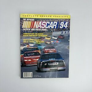 Official NASCAR 1994 Preview & Press Guide-Dale Earnhardt #3 Chevy on cover