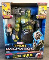 "Marvel Thor Ragnarok Interactive Gladiator Hulk Action Figure 13"" New!!"