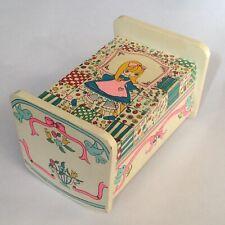 Vintage Earl Bernard Wooden Trinket Jewelry Music Box - Girls Baby Crib Design