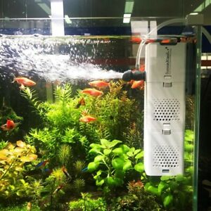Fish Tank WATER FILTER 4in 1 Aquarium Submersible wall mountable Air OXYGEN PUMP