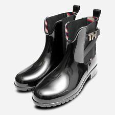 Tommy Hilfiger Designer Womens Black Waterproof Wellies