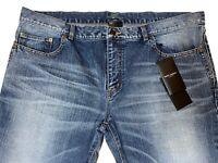 $890 Saint Laurent Blue Jeans SL Universite Size 33 Made in Japan