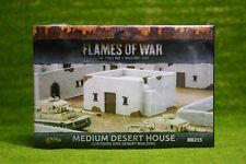 Flames of War medio casa del Desierto Pintado de Mesa terreno 15mm BB215