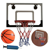 Mini Basketball Hoop System Kids Goal Over The Door Indoor Sports with Ball