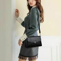 Small Vintage Bag Women Faux Leather Messenger Shoulder Handbag Solid Color
