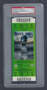 PSA NMT 7 - VINTAGE 2009 NFL SUPER BOWL XLIII FULL TICKET STEELERS vs CARDINALS