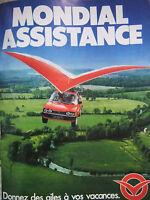 PUBLICITÉ PRESSE 1988 MONDIAL ASSISTANCE DES AILES A VOS VACANCES - ADVERTISING