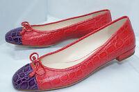 New Prada Women's Shoes Ballet Flats Red Size 38 Classic Ballerina