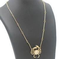 Diamant Collier Krebs 750 Gold Kette 18 Kt Gelbgold Wert 3000,-