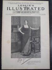 English Actress Olga Nethersole Palmer's Theater New York City Leslie's 1894