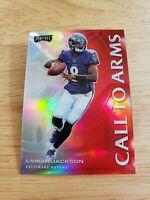 Lamar Jackson - (Red PRIZM) Call to ARMS - 2020 Panini Playoff NFL Ravens QB