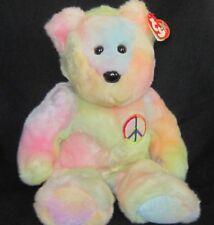 Ty Beanie Buddies Tye Dye Peace Plush NWT 1999
