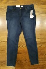 S & CO. jeggings size 16 low rise dark wash NEW NWT knit indigo $49 SISLOU K11