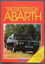 FIAT STRADA ABARTH 130 TC Car Sales Brochure Sept 1984