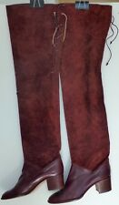 Vintage Bally Knee High Boots Burgundy
