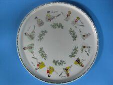 Porcelain de Sologne Round Tea/Dessert Server Tray-Represents 6 Countries-France