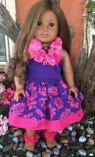 American Girl Doll 2011 KANANI   Retired With Custom Luau outfit.