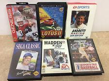 Lot of 6 Complete In box Sega Genesis Lotus II, Baseball, +