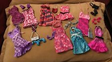 Mattel Mixed Lot Of Barbie Dresses Shoes &  Accessories Handbags Cat Eye Euc