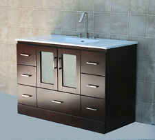 "48"" Bathroom Vanity 48-inch Cabinet Ceramic Top Integrated Sink + Faucet MCT"