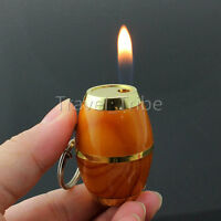 MIni Novelty Beer Barrel Refillable Butane Gas Flame Fire Cigarette Lighter