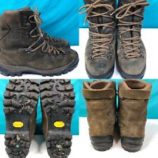 Mens GARMONT Brown Leather Mountaineering Hiking Boots Shoes SIZE 11.5 EU 46