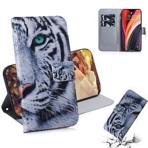 Cool Tiger 3D New Flip Antislip Wallet Bracket Case Back Cover For Various Phone