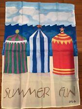 Decorative flag Summer cabanas on beach