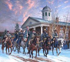 """McNeill's Rangers"" John Paul Strain Civil War Print - Capture of Union Generals"