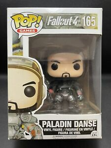 Funko Pop Vinyl PALADIN DANSE #165 FALLOUT 4 (Rare & Vaulted) in Protector