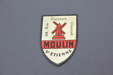 IC Ancien autocollant Saint Etienne MOULIN rouge Docteur Charcot 70's Collasec
