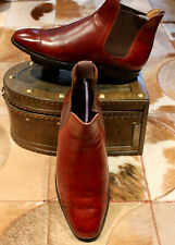Crockett & Jones Oxblood Leather Chelsea Boots - UK7