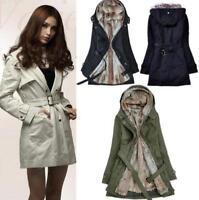 Fashion Women Thicken Winter Coat Hood Parka Warm Overcoat Long Jacket Outwear P