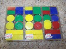 Vintage CHRISTIAENSEN Plastic Coins & Notes MATH TEACHING AID Lot of 3 Boxes