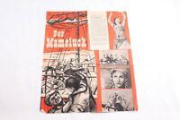 altes Filmplakat Der Mameluck Kino Film Reklame Werbung vintage