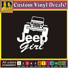 Jeep Girl Jeeps are for girls truck car auto window vinyl decal Sticker