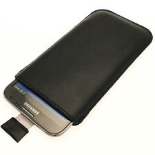 Black Leather Pouch for Samsung Galaxy Note 2 II N7100 Android Case Cover Holder