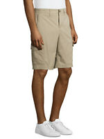 """NEW MENS GEORGE CARGO FLAT FRONT 10"""" COTTON STRETCH CASUAL SHORTS STONE WASH"""