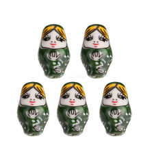 10pcs Green 22mm Russian Ceramic Doll DIY Spacer Beads Jewelry New Finding C