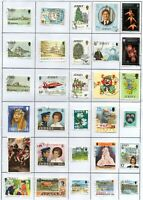 JERSEY 30 different used stamps on page.
