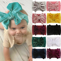 Baby Headband Cotton Elastic Bowknot Hair Band Girls Bow-knot Newborn Bow