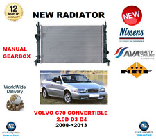 FOR VOLVO C70 CONVERTIBLE 2.0D D3 D4 MANUAL GEARBOX 2008->2013 NEW RADIATOR