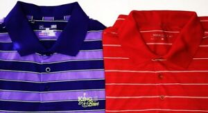 LOT OF 2 UNDER ARMOUR HEATGEAR LOOSE & NIKE DRI-FIT MEN'S LARGE POLO SHIRTS