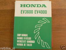 HONDA EV3600,EV4000 SHOP MANUAL FACTORY BOOK GENERATOR POWER WERKSTATT