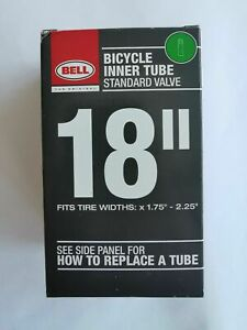 """Bell Bike Inner Tube - 18"""" Fits Tyre Widths x 1.75"""" - 2.25"""" - Standard Valve"""