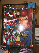 "Toy Biz Marvel Famous Cover BLACK WIDOW 8"" Retro Figure New in Box NIB"