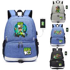 Ben 10 Reboot USB charging backpack Canvas School bag laptop travel bags Mochila