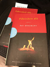 SIGNED FAHRENHEIT 451 RAY BRADBURY  50TH ANNIVERARY ED AS NEW IN DJ